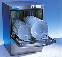 winterhalter gs302 commercial dishwasher with door open